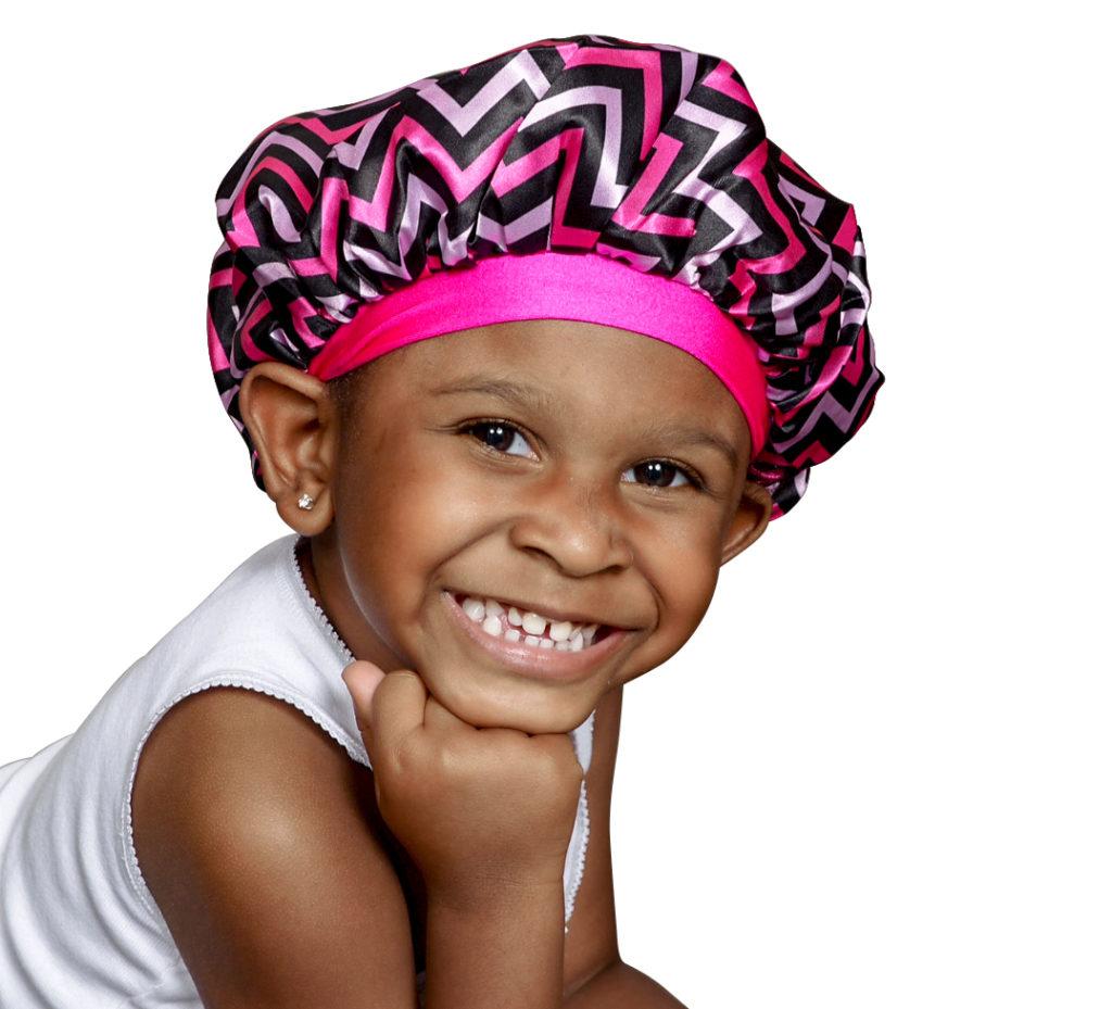 NEW REVERSIBLE Pink Panther Kraddle Kap satin bonnet