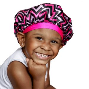 Kraddle Kare | NEW REVERSIBLE Pink Panther Kraddle Kap satin bonnet