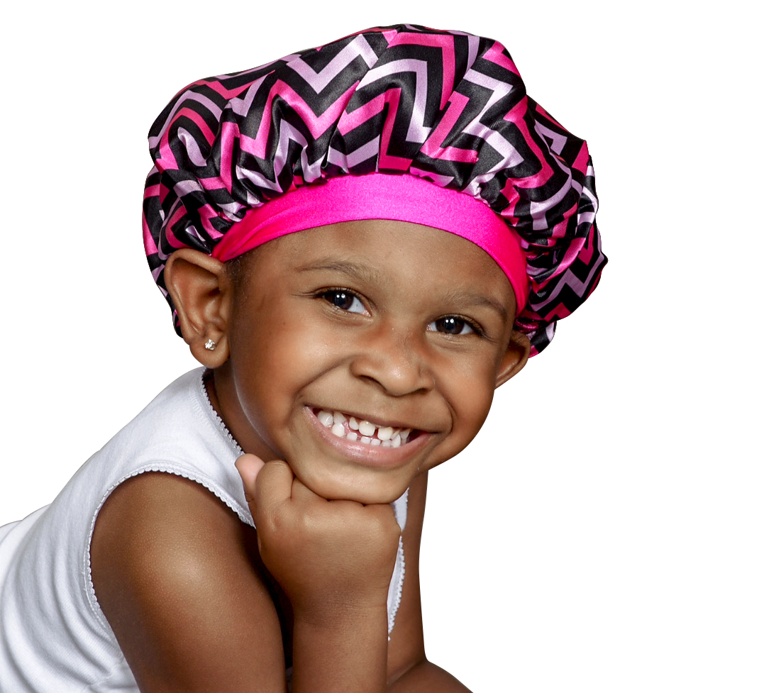 Kraddle Kare | NEW REVERSIBLE Pink Panther Kraddle Kap satin bonnet