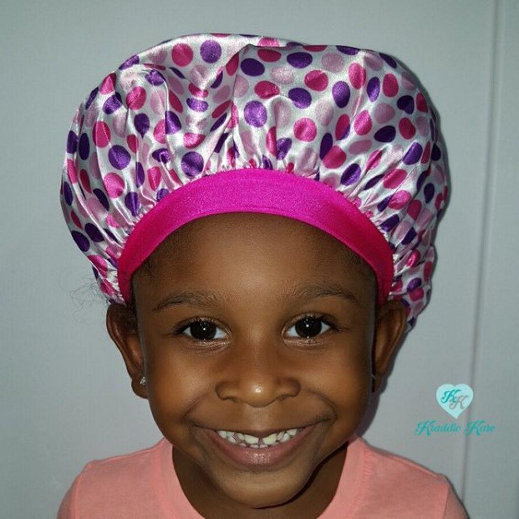 Princess Kraddle Kap satin bonnet